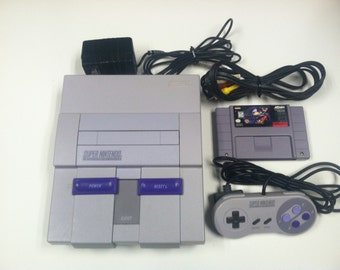 Super Nintendo Entertainment System Super Nes Complete With Batman Forever Video Game Cartridge