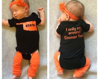 Oklahoma State University I Only Cry Around Sooner Fans Infant Onesie
