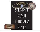 Flapper Style Sign Printable Roaring 20s Gatsby Era Prohibition Flapper Blue Sapphire Headpiece Art Deco Speakeasy Prohibition Wedding Decor