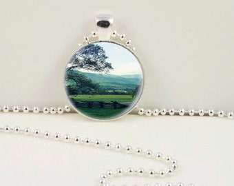 Cades Cove Tennessee Pendant or Keychain
