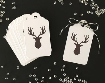 Christmas Gift Tags White x 12