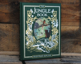 Hollow Book Safe - The Jungle Book - Green Leather Bound