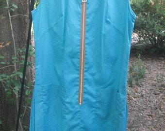 60s Lane Bryant shift dress with zipper medium size