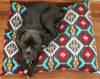 Dog Bed. Pet Duvet Bed Cover. Canvas Medium/Large Bed Cover