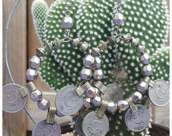 BOHEMIAN 14 Earrings with vintage Afghani Kuchi Coins