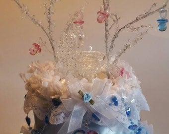 Disney's Frozen Theme Baby Shower Diaper Cake Centerpiece