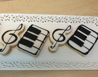 Music note cookies, music cookies, cookies