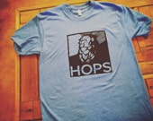 HOPS-T-Shirt-Mens Unisex-American Apparel T shirt -Every brewer needs a little Hope in their Hops
