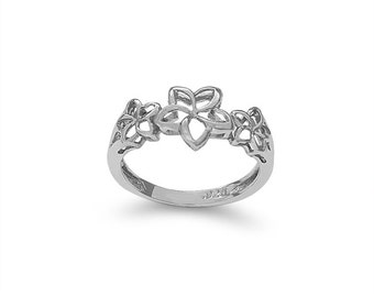 Sterling Silver Plumeria Ring, floral ring, floral jewelry, plumeria ring, plumeria jewelry