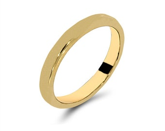 14k solid gold band. stackable ring, trendy ring, bands, gold bands, knuckle ring