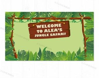 Jungle Safari Printable Backdrop