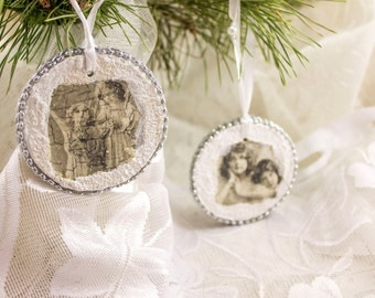 Christmas Ornaments Set of 2 vintage Christmas decorations Christmas decoration Christmas Christmas tree ornaments decoration