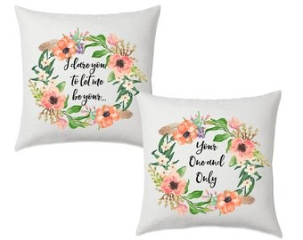 I dare you to let me be your...Your one and Only - Wedding  Accent Pillow Cover - Throw Pillows - Decorative Pillows
