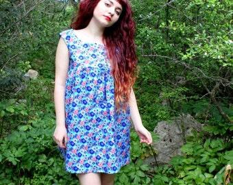 Vilös Mode Design Babydoll floral turquoise lolita dress oversize  Türkis blumen Babydoll Lolita Kleid