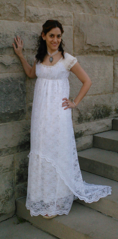 Titanic style edwardian regency era wedding gown for Regency style wedding dress