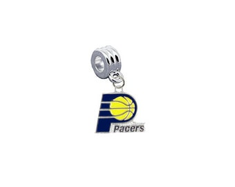 Indiana Pacers Basketball European Charm for Bracelet, Necklace & DIY Jewelry