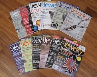 Art Jewelry Magazine 12 copies-Destah back issues-2008-2009