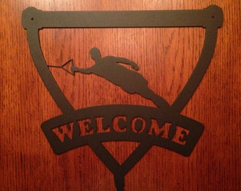 Slalom Ski Welcome Sign