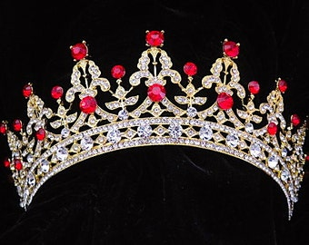 Queen of Hearts rhinestone tiara