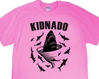 "New Shark Tornado ""Kidnado"" Unisex Youth Tshirt for Shark Tornado Birthday, Party, Son, Daughter, Nephew, Niece, Friend, Sports Team, Gift"