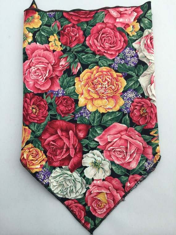 Everything Is Rosy: Cotton Floral Wild Rose Print Secret Pocket Bandana