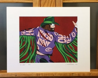 "11x14 Limited Edition Hand Signed MATTED PRINT ""Oh Yeah!"" - Macho Man Randy Savage Pop Art - 1980's 1990's wrestler wcw wwe wwf wrestling"