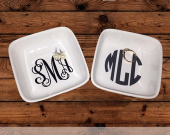 Cyber Monday Sale - Monogrammed Jewelry Dish