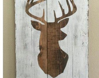 Western Wall Deer Decor