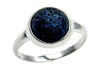 Rare Volcanic Lava Rock & .925 Sterling Silver Ring Size 5.5, 6.5, 7, 7.75, 8 , Ab815, Ab782, Ab812, Ab813