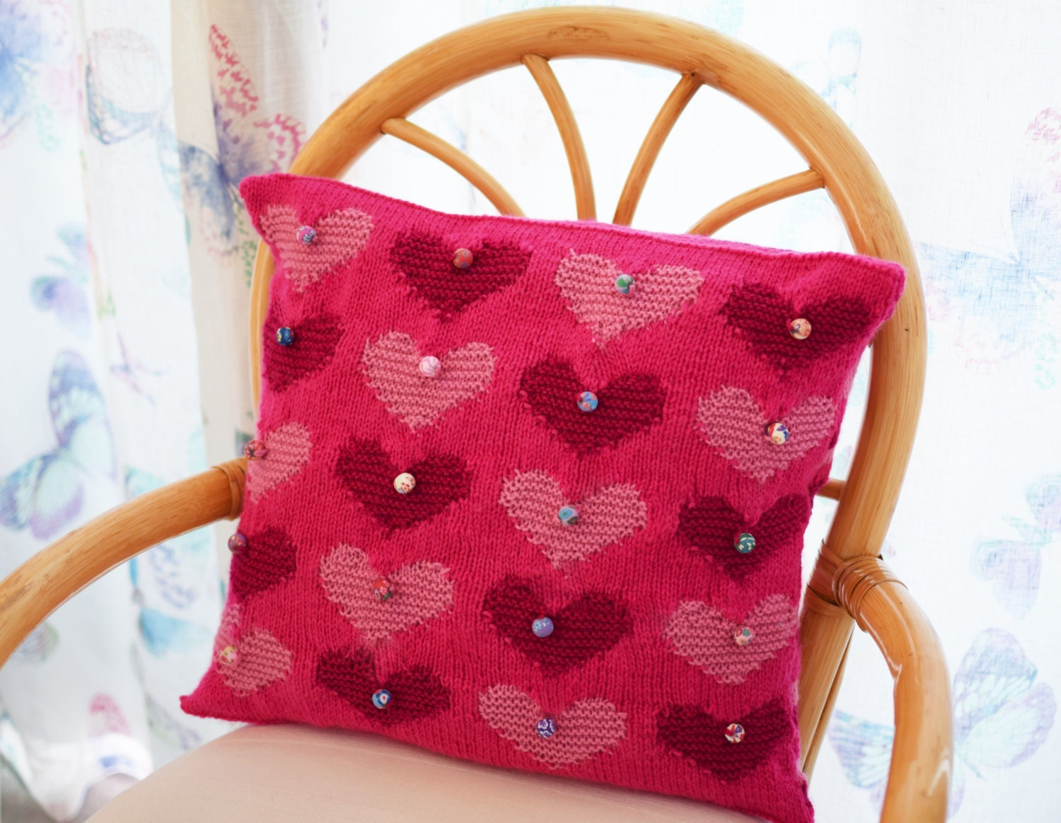 Heart cushion knitting pattern heart pillow knitting pattern instant digital download loading add to cart ask a question a very romantic heart cushion knitting pattern bankloansurffo Gallery