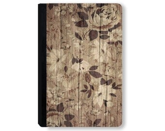 For Galaxy Tab case, for iPad Case, universal tablet case, for kindle fire case, for ipad mini case, tablet folio case - Wood Floral