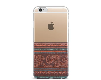 iPhone 6 clear case, iPhone 6s clear case, iPhone 7 clear case, phone 6 case, iphone 6s case, iphone 7 case, iPhone 6 case clear - Tribal