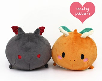 PDF sewing pattern - Charizard Dragon Roll plush - stacking Pokemon loaf plushie - easy kawaii stuffed animal anime plush toy 12""