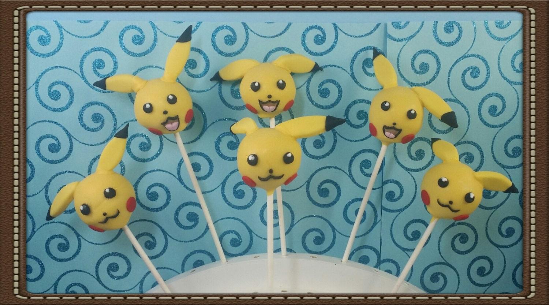 Pokemon pikachu cake pops zum geburtstag party hochzeit - Cake pops 50 geburtstag ...