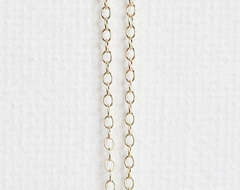 Delicate Thin Chain Necklace / Ultra Dainty Layering Necklace / Thin Gold Chain, Sterling Silver, Rose Gold Fill, 14k Gold Fill Chain