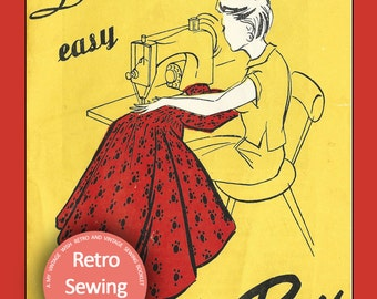 1950's Le Roy Sewing Booklet - Dressmaking Booklet -  PDF  Instant Download