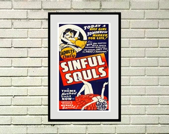 "Reprint of a Vintage Movie Poster - ""Sinful Souls"""