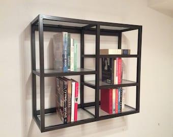 Metal and Acrylic Wall Shelf