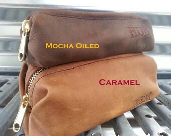 Leather Shaving Bag/ Razor/ cosmetic/ pencil/ art /Father's Day Gift/ Wedding/ Groomsman Gift/ Dopp Kit/ Mens Gift