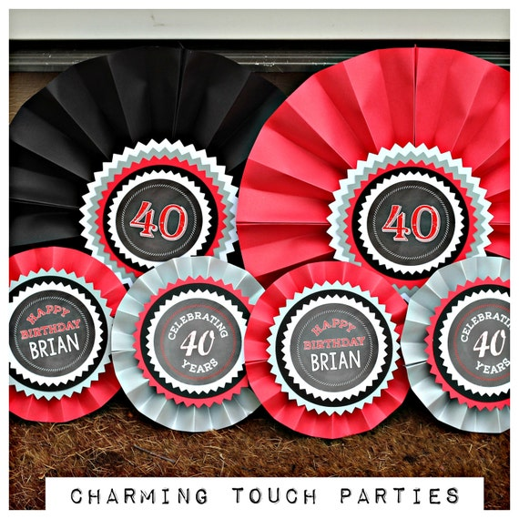 40th birthday party decorations decorative rosettes paper for 30th birthday decoration packages