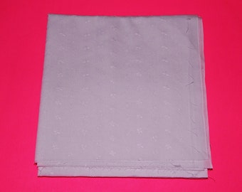 """2 Pieces 42"""" x 47"""" White Eyelet Fabric Material Semi Sheer"""