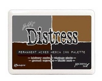 Tim Holtz Distress Permanent Mixed Media Ink Palette Pad - New for 2016
