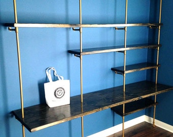 Industrial Office Furniture, Pipe Shelf, Industrial bookcase/desk, Industrial bookshelf, industrial shelving unit, Industrial Design