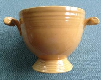 vintage yellow fiestaware sugar bowl