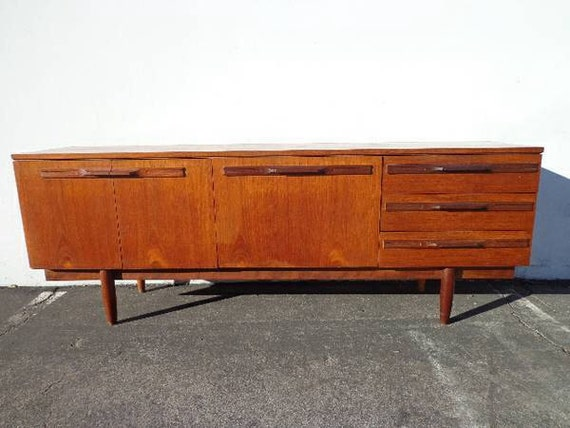 Mid Century Modern Danish Style TV Media Console Sideboard Furniture ...