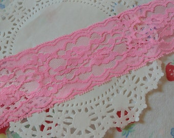 Vintage Pink Lace One Yard Sewing Lace Lace Trim