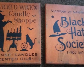 Halloween Witch Signs