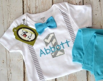 Baby Boy First Birthday Outfit, Personalized First Birthday, Birthday Outfit, Baby Boy Cake Smash, themed birthday, baby boy birthday