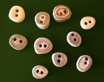 Small Deer Antler Buttons, 10 ct.