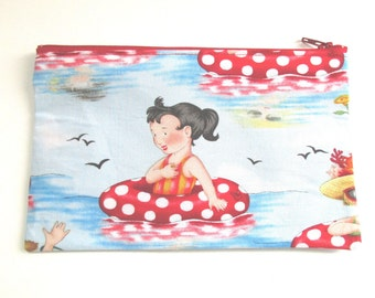 Summer Girl Fabric Pencil Case